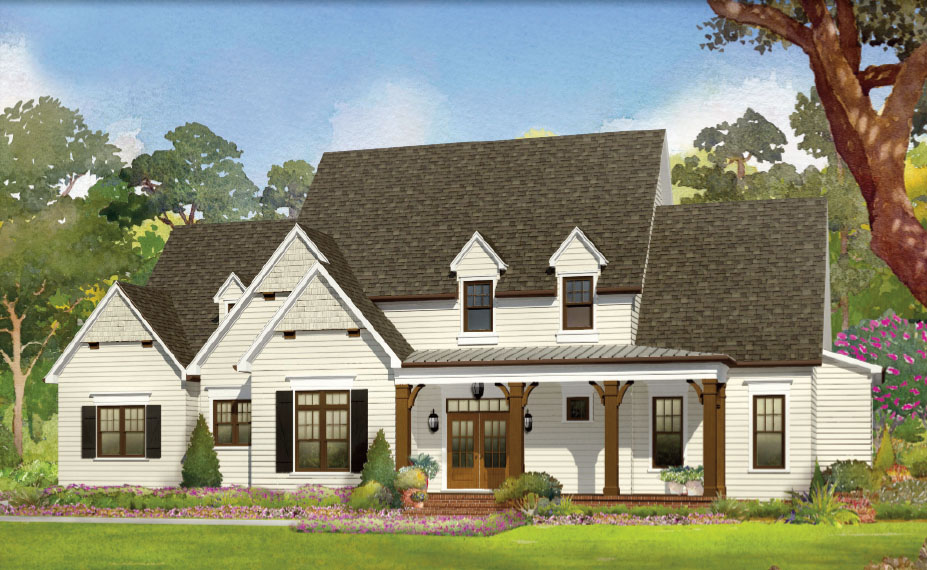 Modern day farmhouse hidden lake the triangle 39 s luxury for Modern day houses